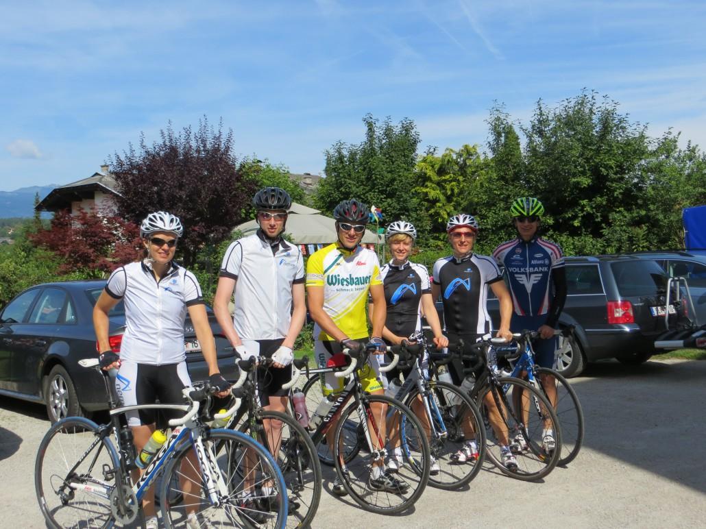 Radgruppe vom Bike Festivall in Villach