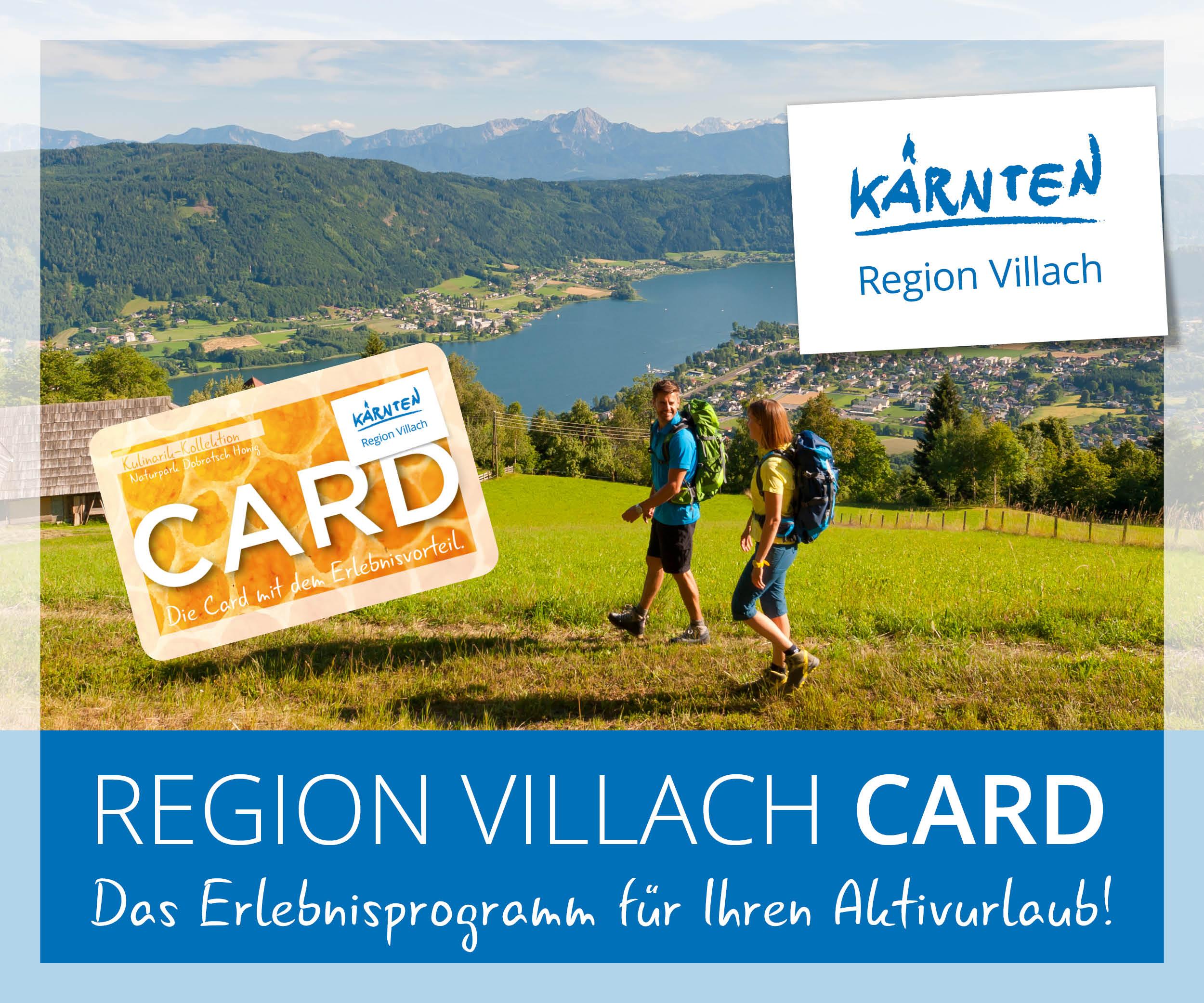 Region Villach Card Gratis bei Ihrem Urlaub dabei. 2017