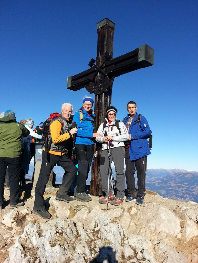 heute am 31.12. 2017 am Gipfelkreuz - mit Freunden