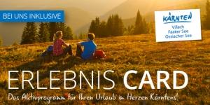 Erlebnis Card der Region Villach, Faaker See und Ossiacher See