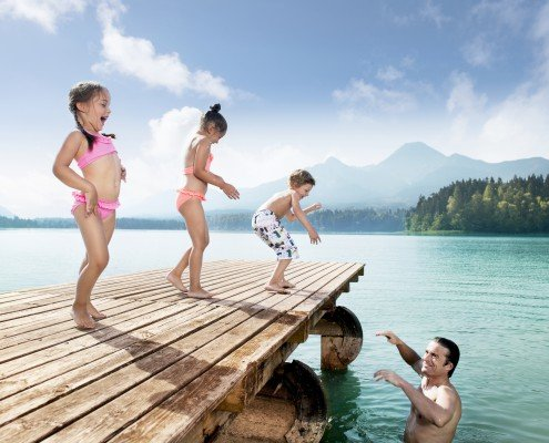 Badespaß am See