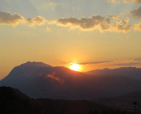 Sonnenuntergang Blick vom Balkon