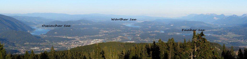 Traumhaufter Ausblick auf 3 große Seen in Kärnten