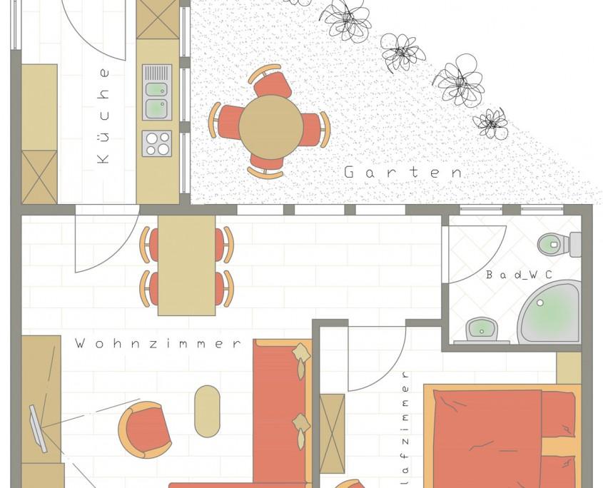 Ferienwohnung mit Garten Nr 201