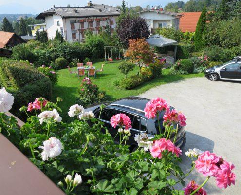 Ansicht, Garten Parkplatz,