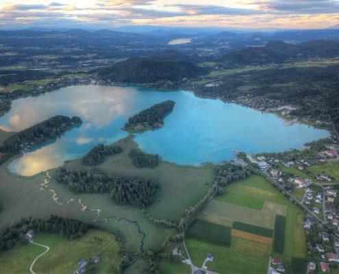 Faaker See in der Vogelperspektive