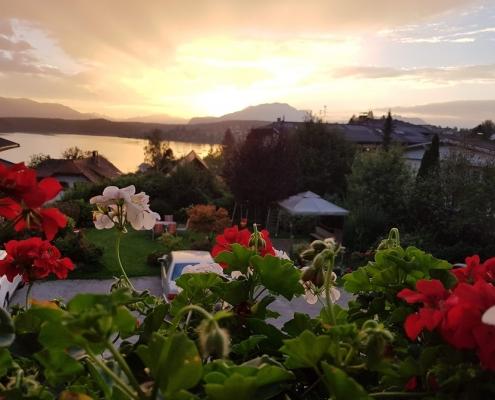 Blick vom Balkon -Abendstimmung