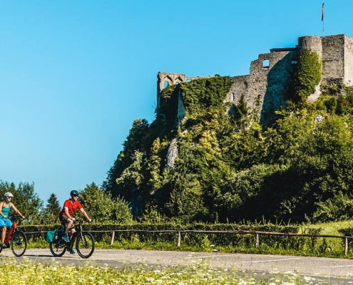 Radfahren Burgruine Finkenstein
