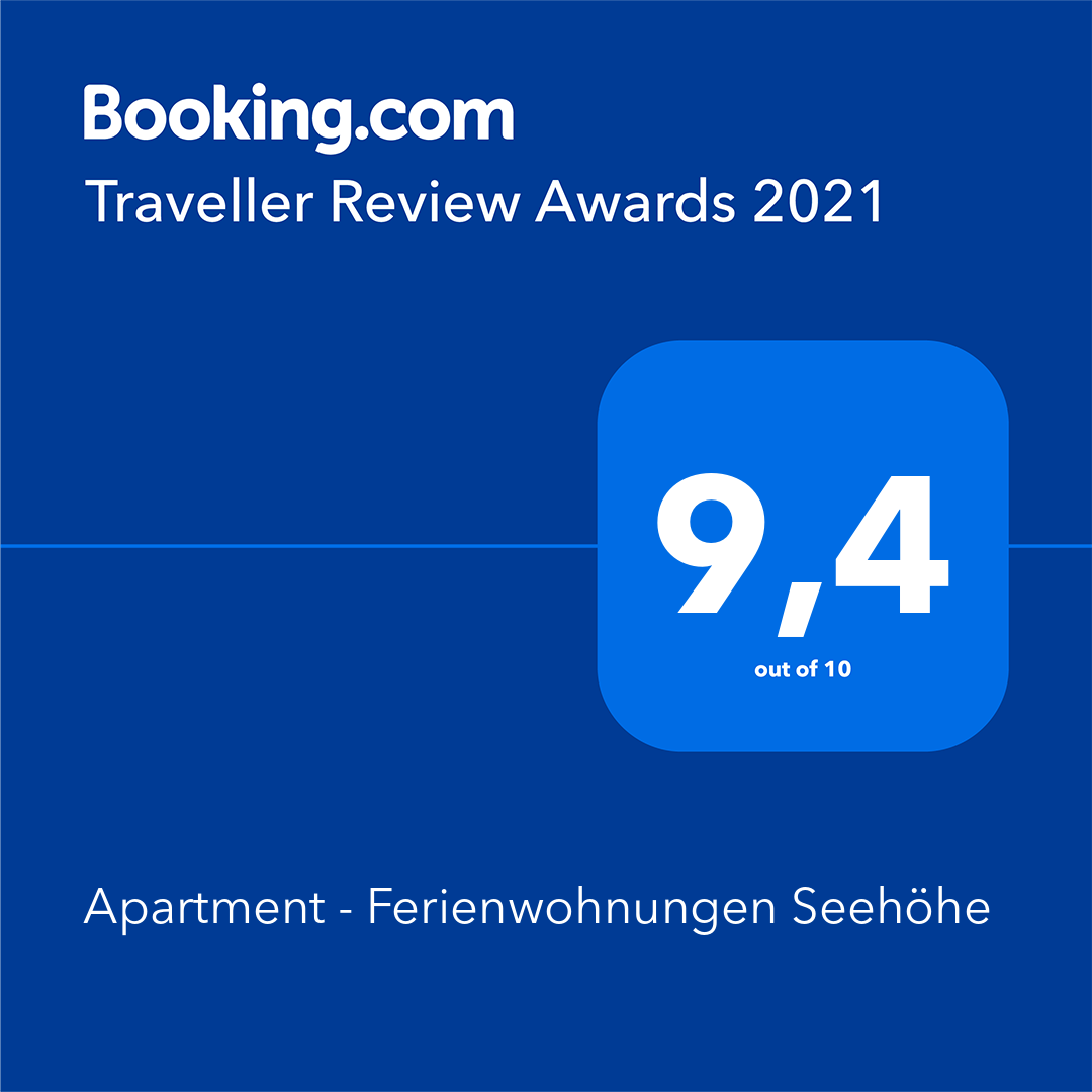Traveller Review Award 2021. Apartment - Ferienwohnungen Seehöhe