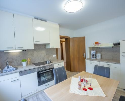 Wohnküche des Apartment Type A